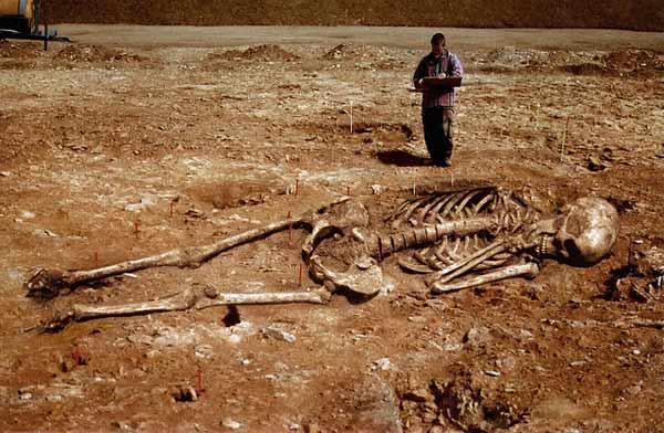 Arqueólogos encontram esqueletos gigantes?